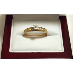 Pre-Owned Diamond 10kp Gold Women's Ring _- AM