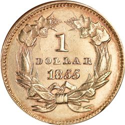 1855 Type Two Gold Dollar