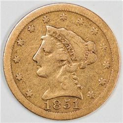 1851-O Quarter Eagle, Nice VG Condition (64554)