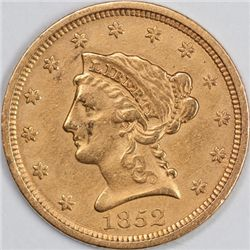 1852 $2.5 Gold Piece, Raw XF (65938)