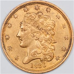 1836 Classic Head Five Dollar Gold, Uncertified (46945)