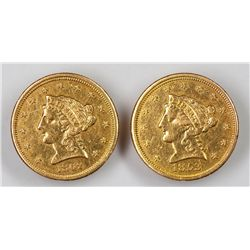 Pair of Liberty $2.5 and $1 Gold Coin Cufflinks (45383)