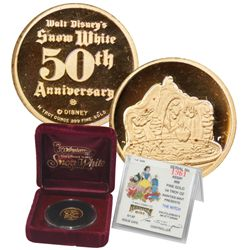 Disney 1/4 Oz Gold Medal, Snow White 50th Anniversary (55189)