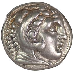 Alexander the Great AR Tetradrachm, 336-323 BC, NGC XF (55934)