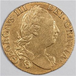 1786 Gold Guinea, Great Britain, George III, VF (58095)