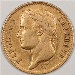 Scarce 1810 French 40 Francs, A Heavy Gold Coin (34745)