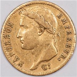 Gold 1811-A French 20 Francs, Napoleon (41057)
