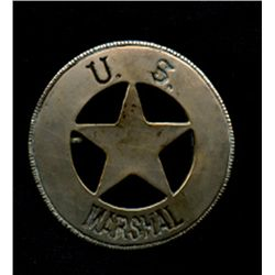 United States Marshal Badge Circa 1800s Original