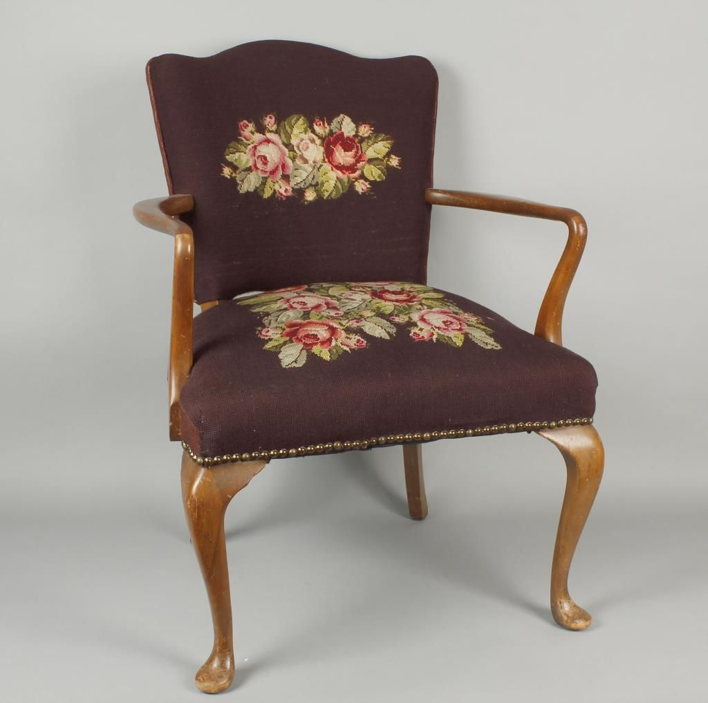 - Antique Needlepoint Chair