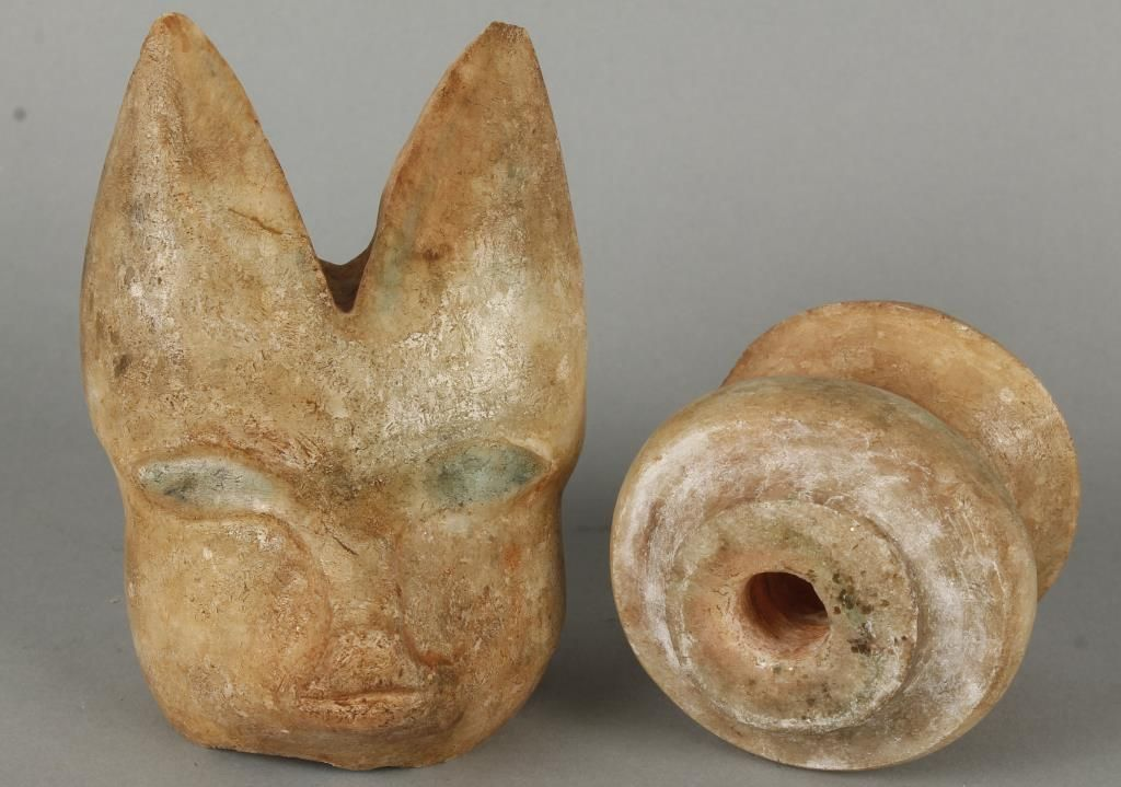 Egyptian stone carving of cat