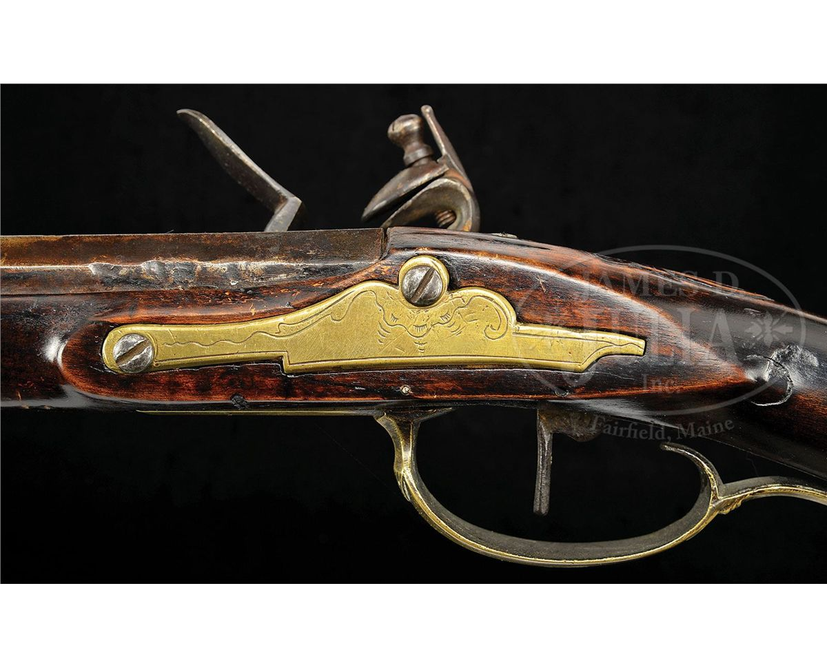 Relief carved flintlock kentucky rifle
