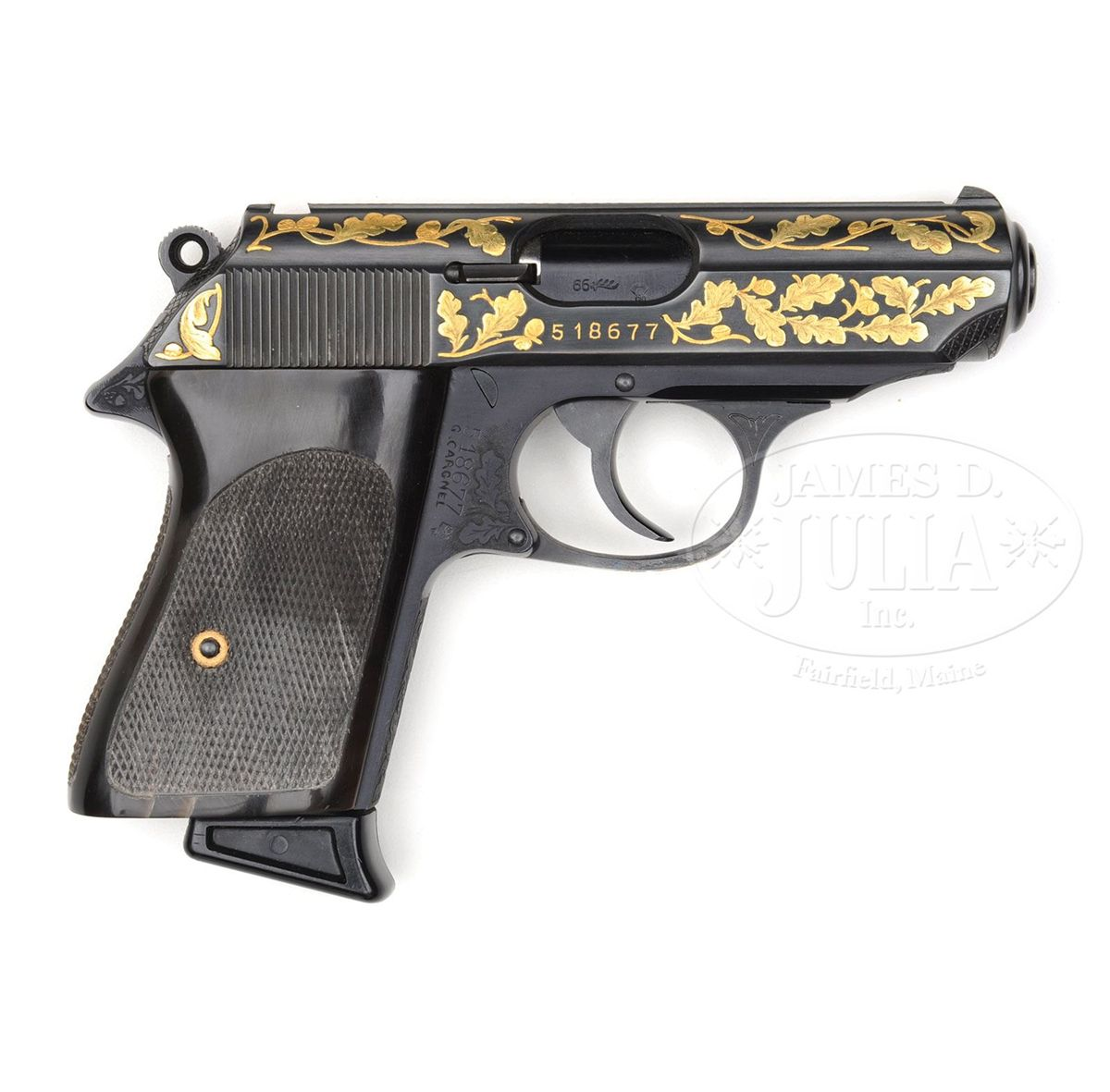 FABULOUS CUSTOM ENGRAVED WALTHER PPK-DURAL BY GINO CARGNELL