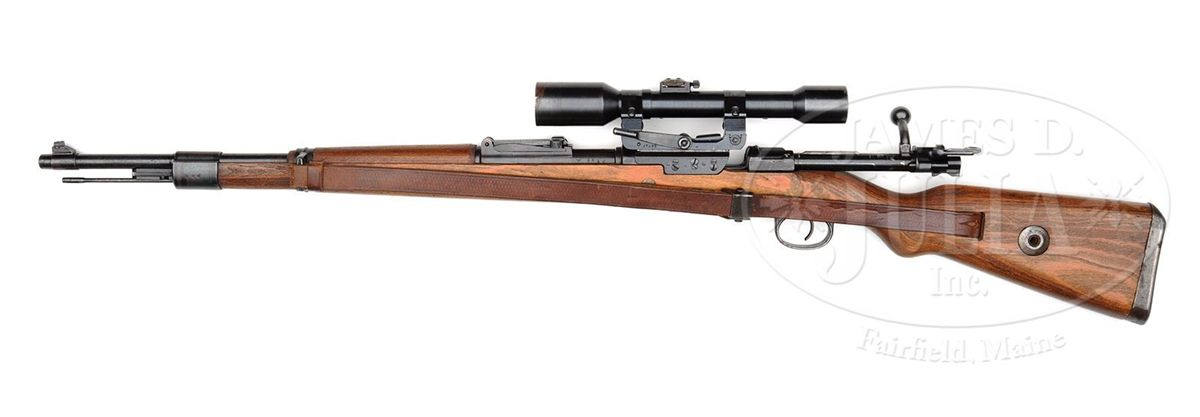 Image 2 MAUSER K98 BCD 4 SNIPER RIFLE 8MM WITH LONG RAIL SCOPE