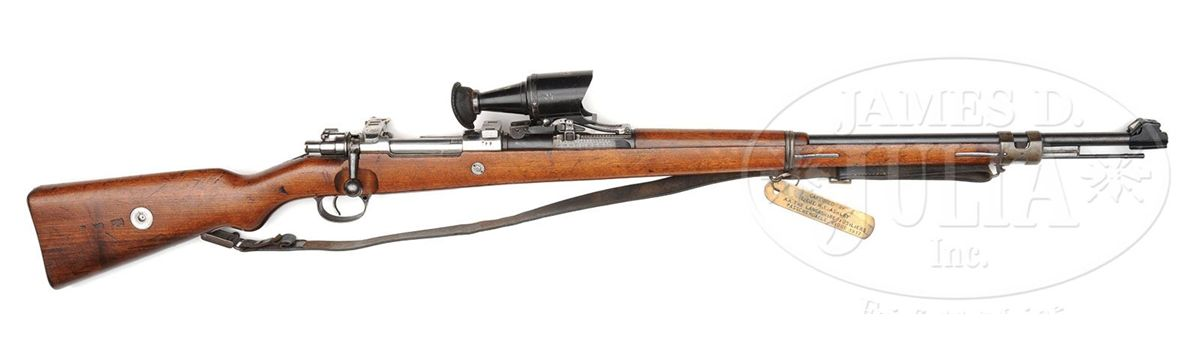 DANZIG 8MM GEWEHR 98 SNIPER RIFLE WITH ZEISS LOW-LIGHT PRISMATIC ...