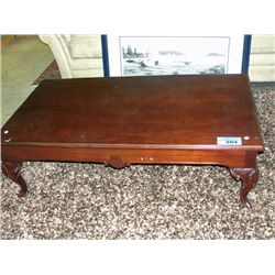 mahogany ball and claw foot coffee table. Black Bedroom Furniture Sets. Home Design Ideas