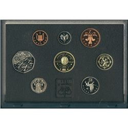Great Britain 1994 Proof Set in Standard case (blue) 8 coins.
