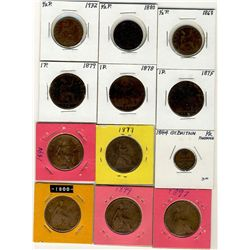 Great Britain;  Lot of approximately  100+ coins.  Dating 1868 to 1967,  consists mainly of Pennys w