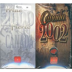 RCM Lot; 2000 Pride & 2002 Canada Day Coloured 25 Cents in original unopened package. Lot of 2 sets.