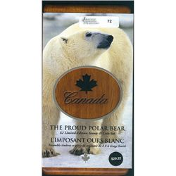 RCM Lot;2004 $2.00 The Proud Polar Bear Limited Edition Stamp and Coin set.