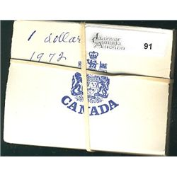 RCM Lot; Specimen Nickel Dollar in Blue Case from the Mint year 1972 Voyageur and 1973 P.E.I. Centen
