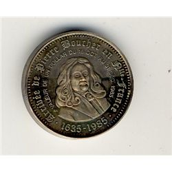 Token; 1985 Boucherville Silver Pied Fort token #084; Only 100 minted. 312grs. (,999).