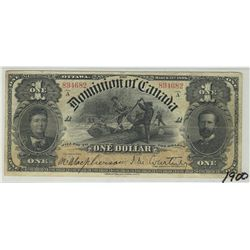 1898  Dominion of Canada; 1 Dollars,  Ones Inward, J.M. Courtney-894682, PMG , Inwards One's Series