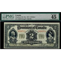 1914 Dominion of Canada; 2 Dollars, DC-22a PCGS EF45;  #322975-D. Scarce in this condition.