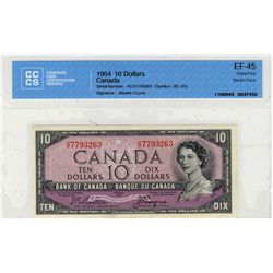 1954 Bank of Canada; 10 Dollars BC-32b, CCCS EF45; #HD7793263.