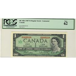 1967 Bank of Canada; 1 Dollars,  BC-45b-i #MP2685228 PCGS UNC62.