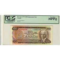 1975 Bank of Canada; 100 Dollars, BC-52aA #*JA6406428 PCGS VF30PPQ.