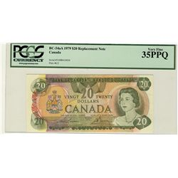 1979 Bank of Canada; $20 BC-54aA #51000410838 PCGS VF35PPQ.