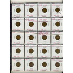 Varieties Lot;  includes 1941 to 2006 Cents, 1946-1964 5 Cents, 1973-1974 10 Cents and 1944-1979 25