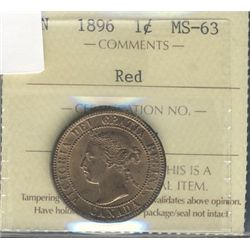 1896 1 Cent,  ICCS MS-63RD.