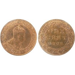 1908 1 Cent,  ICCS MS-65, RED.