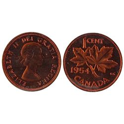 1954 1 Cent, ICCS PL64; NSF, Red.