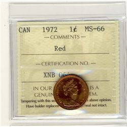 1972, Cents ICCS MS66; Red.