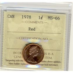 1978, Cents ICCS MS66; Red.