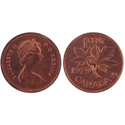 1979, Cents ICCS MS66; Red, Cents Double 79