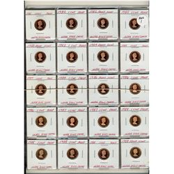 1981 Cents to 2004 Proof with Ultra Heavy Cameo strikes.  40 coins with duplicate dates. 1966 to 198