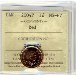2004P, Cents ICCS MS67; Red.