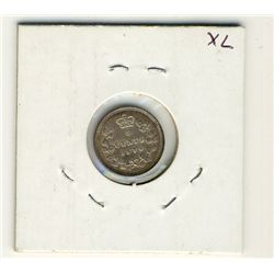 1870 5 Cents Nr 0.  Toned AU issue with die cracks on obverse.