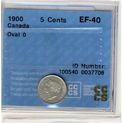 1900 5 Cents, CCCS EF40; Oval