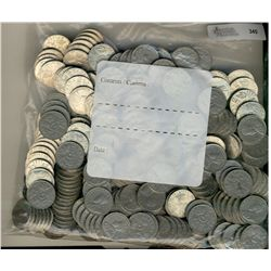 1923-1936 5 Cents;  Lot of 300 circulated coins.  A large mix of dates.  No key issues.