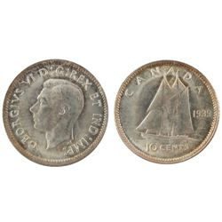 1939 10 Cents, MS65;  Frost finish. ICCS