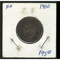 1900 25 Cents; darkly toned VF+.