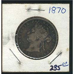 1870 50 Cents VF+; Darker tones.