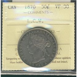 1870 50 Cents,  LCW ICCS VF30.