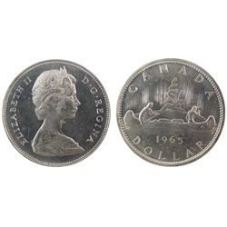 1965 1 Dollars, ICCS MS64; Type V, Cameo.