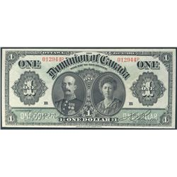 1911 $1 DC-18d #012944P PMG UNC64.  Strong and clean colours.  So bright and attractive.  Worth a pr
