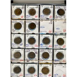 1902 1 Cents to 1933;  Nice date set including many duplicates and more.  All coins designated by da